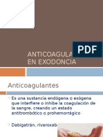 Anticoagulantes en Exodoncia