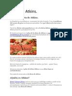 Dieta de Atkins.
