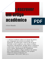 Como escrever um artigo acadêmico