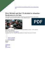 Srebrenica Engl
