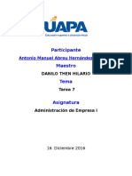 Administracion I Tarea 7