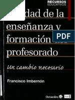Calidad de La Enseñanza y Formacion Magisterial Imbernon_Ccesa007