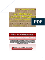 Lean Maintenance Management