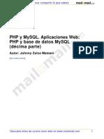 Php Mysql Aplicaciones Web Php Base Datos Mysql 10 Parte