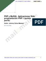 Php Mysql Aplicaciones Web Programacion Php 5 Parte