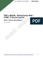 Php Mysql Aplicaciones Web HTML 3 Parte
