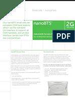 NanoBTS GSM Datasheet