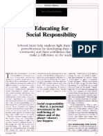Educating for Social Responsibility