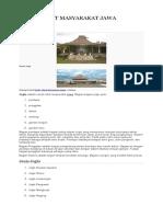 Rumah Adat Masyarakat Jawa
