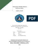 LAPORAN STUDY TOUR BALI SMA NEGERI 3 PEMALANG