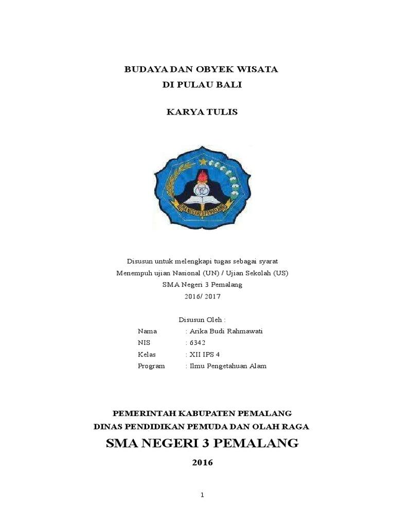 Doc Laporan Study Tour Bali 4 Hari 3 Malam Nur Asya Academia Edu