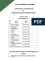 Laporan Praktikum Fisiologi Sikap Dan Keseimbangan Badan[1]