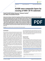 Fabrication of Al Aln Nano-composite Layers by Friction Stir Processing of 6061 Al-t6 Substrate