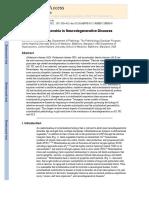 Biology of Mitochondria in Neurodegenerative Diseases