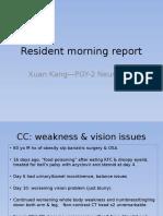 Resident Morning Report