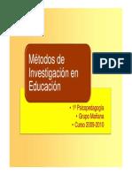 Conceptos Básicos - Métodos de Investigacion