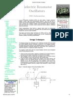 Dielectric Resonator Oscillators