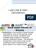 Heat Loss and Gain Calculation