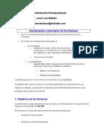 Fundamentos y Principios de Las Finanzas