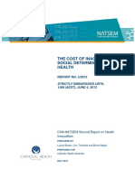 Australia 2012 Social Determinanrs of Health CHA-NATSEM Cost of Inaction