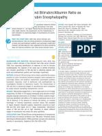 Serum Bilirubin and Bilirubin-Albumin Ratio as Predictor of Bilirubin Encephalopathy