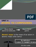 Unit 4 Atoms to Molecules