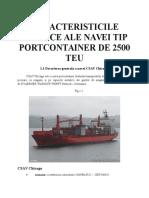 Caracteristicile Tehnice Ale Navei Tip Portcontainer de 2500 Teu