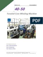 Catalogue of RC140-50 Toroidal Core Winding Machine (1)