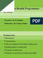 Adoloscent HealthProgrammes in India 26.10.09 (1)