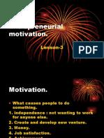 Entrepreneurial Motivationlesson 3