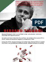 History Ppt-bernard Schumi