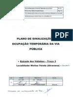 Pano de Desvio de Trânsito e Ocupação Da via Pública_Estrada Dos Valinhos_Troço 3 Em Moitas Venda e Gouxaria