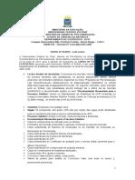 Edital de Especialização Em Estatística 2014