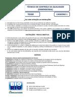 Bio Rio 2014 Nuclep Tecnico de Controle Da Qualidade Dimensional Prova