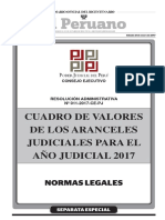 Aranceles Judiciales 2017