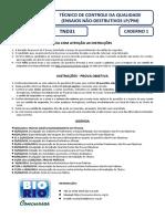 Bio Rio 2014 Nuclep Tecnico de Controle Da Qualidade Ensaios Nao Destrutivos Lp Pm Prova