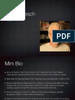 Sound Designer Research - John Roesch