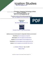 Organization Studies 2007 Orlikowski 1435 48