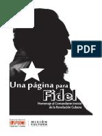 """""""Una página para Fidel"""" será presentado hoy en Barinas"""