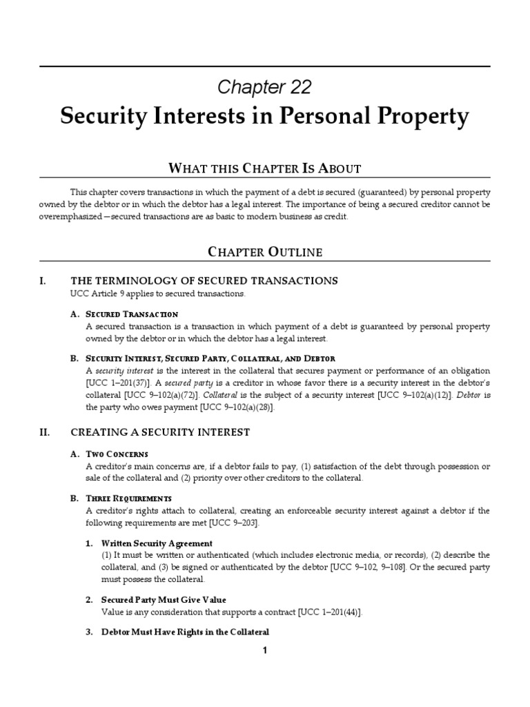 Ch22 Sg Blts 8e 1 Security Interest Uniform Commercial Code