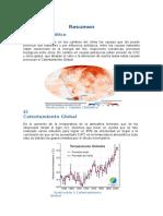 Resumen Cambio Climático, Calentamiento Global y Efecto Invernadero