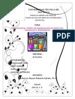 Clasificación Tiempo de Degradación de Desechos Órganicas e Inorgánicos