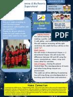 Letter G Sharing the Planet Newsletter 2017 Winter Theme