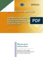 Indicadores Sociodemograficos Productivos Financieros SantaCruz_Bolivia