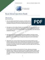 Read Aloud Question Bank