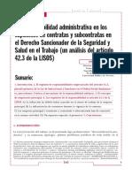 La Responsabilidad Administrativa en La Contratación Administrativa
