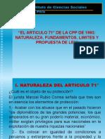 ARTICULO 71 DE LA CPP 1993..ppt