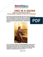 3648 Building in a Sauna 8 Page Guide