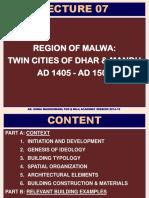 Lecture 07 Dhar & Mandu