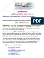 Faithfulness and Being Faithful